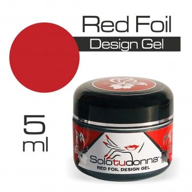 RED FOIL DESIGN GEL