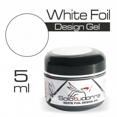 WHITE FOIL DESIGN GEL
