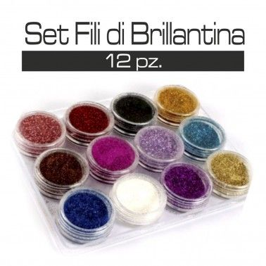 SET FILI DI BRILLANTINA 12 PZ