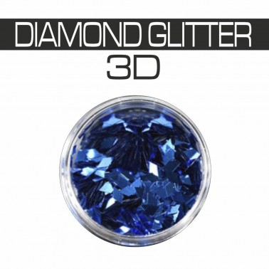 DIAMOND GLITTER 3D BLUE
