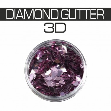 DIAMOND GLITTER 3D LILLA
