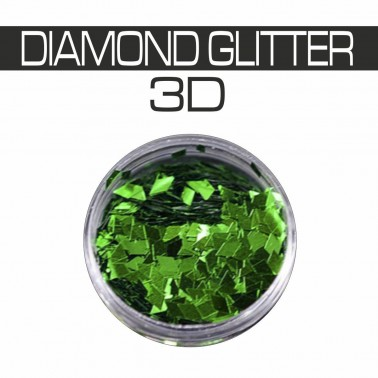 DIAMOND GLITTER 3D GREEN