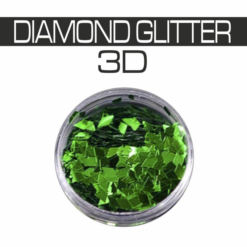 DIAMOND GLITTER 3D GREEN
