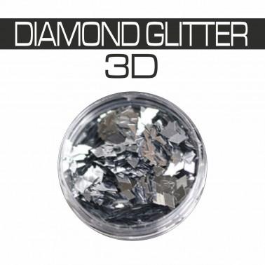 DIAMOND GLITTER 3D ARGENTO