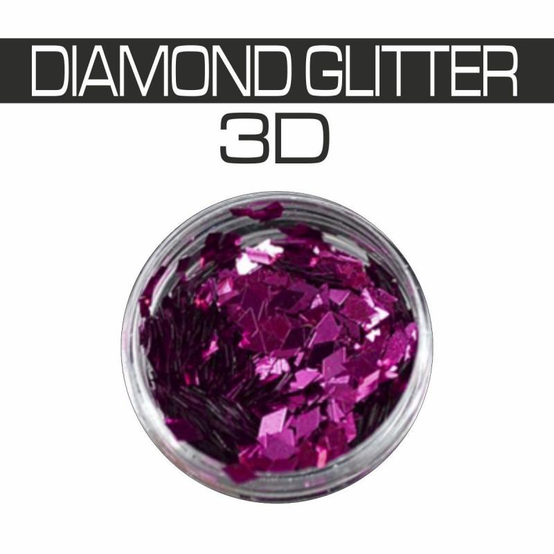 DIAMOND GLITTER 3D FUCSIA