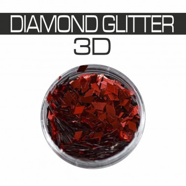 DIAMOND GLITTER 3D RED