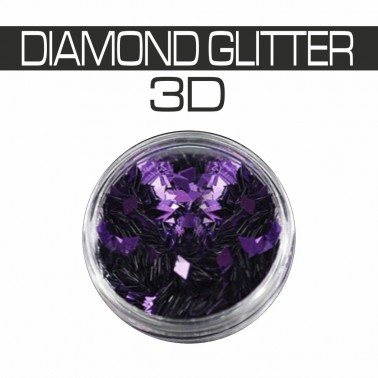 DIAMOND GLITTER 3D PURPLE