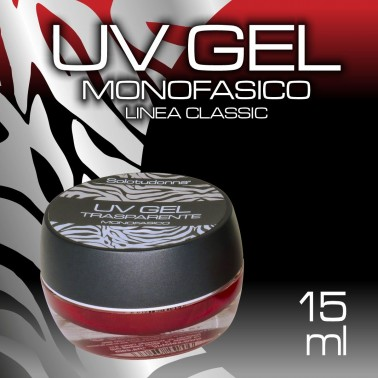 UV GEL MONOFASICO TRASPARENTE 15 ML
