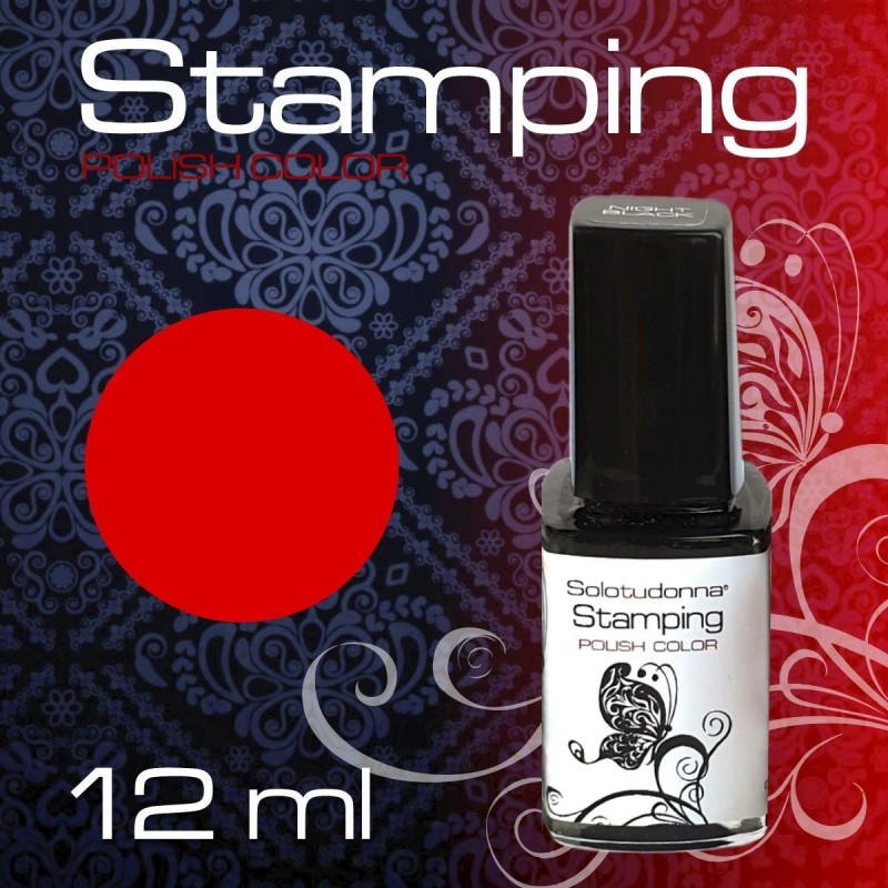STAMPING NEON RED